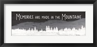 Framed Memories are Made in the Mountains