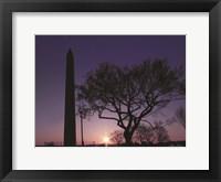 Framed Nightfall at the Washington Monument