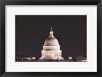 Framed US Capital at Night