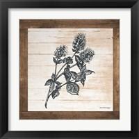Framed Petals on Planks - Mint