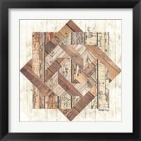Framed Wood Inlay Barn Quilt