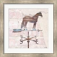 Framed Industrial Horse Weathervane