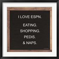 Framed I Love ESPN