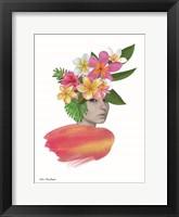 Framed Tropical Girl