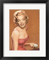 Framed Marilyn Baseball II