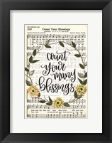 Framed Count Your Many Blessings
