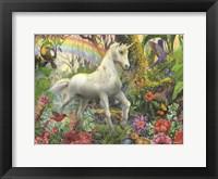 Framed Rainbow Unicorn