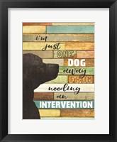 Framed Dog Intervention