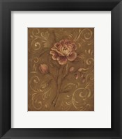 Crackle Rose I Framed Print
