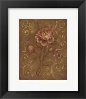 Framed Crackle Rose I