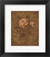 Framed Crackle Rose II