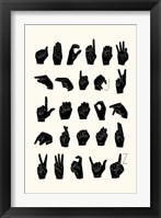 Framed Sign Language I