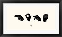 Framed Sign Language II