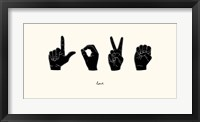 Framed Sign Language IV