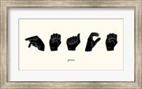 Framed Sign Language V