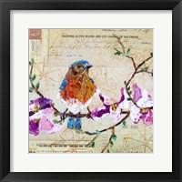 Framed Happy Bird V