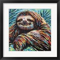 Framed Painted Sloth I