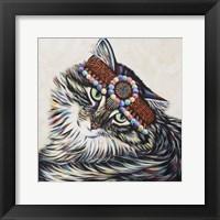 Framed Hippie Cat I