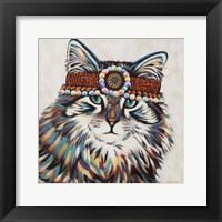 Framed Hippie Cat II