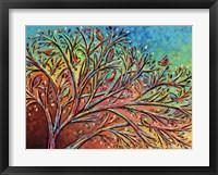 Framed Sunrise Treetop Birds II