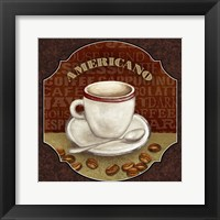 Coffee Illustration II Framed Print