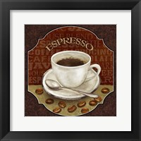 Coffee Illustration IV Framed Print