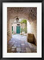 Framed Enchanting Passageway - Kotor, Montenegro