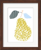 Framed Cut Paper Fruit I