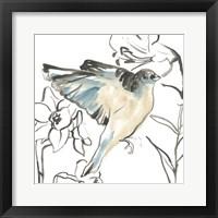 Framed Songbird Meadow I