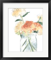 Framed Soft Posy Sketch I