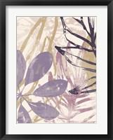 Framed Purple Palms I