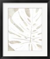 Framed Linen Tropical Silhouette I