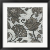 Framed Barnwood Chintz I