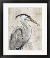 Framed Grey Heron I