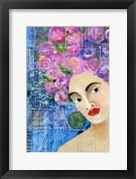 Framed Flowers in her Hair II