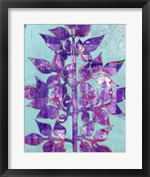 Framed Purple Planta II