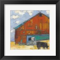 Framed Schullsburg Barn