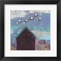 Framed Cow Cloud Barn