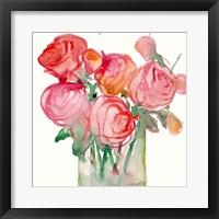Framed Cottage Roses I