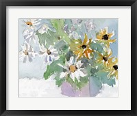Framed Daisies & Black Eyed Susans I