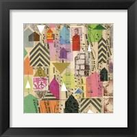 Framed Stamped Houses I