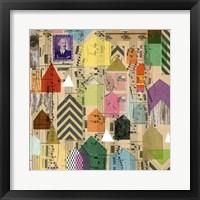 Framed Stamped Houses II