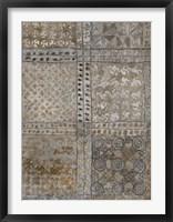 Framed Aged Adinkra Cloth I