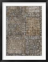 Framed Aged Adinkra Cloth II