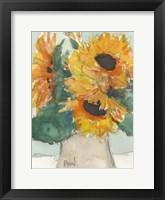 Framed Rustic Sunflowers I