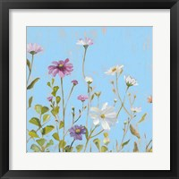 Framed Wild Flowers on Cerulean II