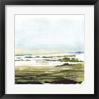 Framed Watercolor Everglade I