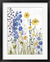 Framed Periwinkle Wildflowers I