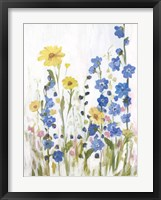 Framed Periwinkle Wildflowers II