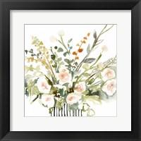 Framed Foraged Flowers I